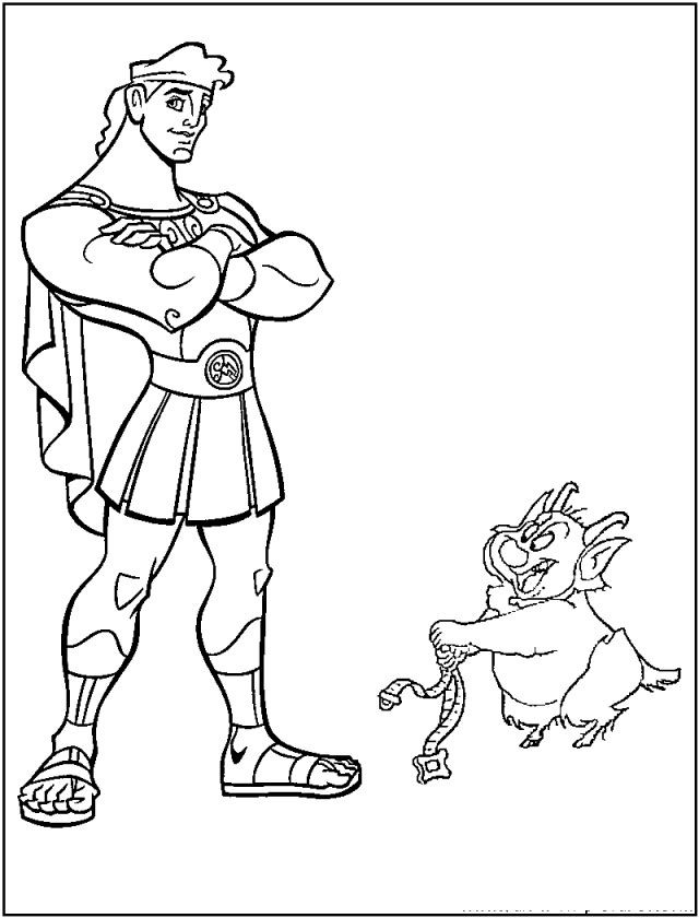 Coloring Pages Disney Boys  22 best Hercules Coloring Pages images on Pinterest
