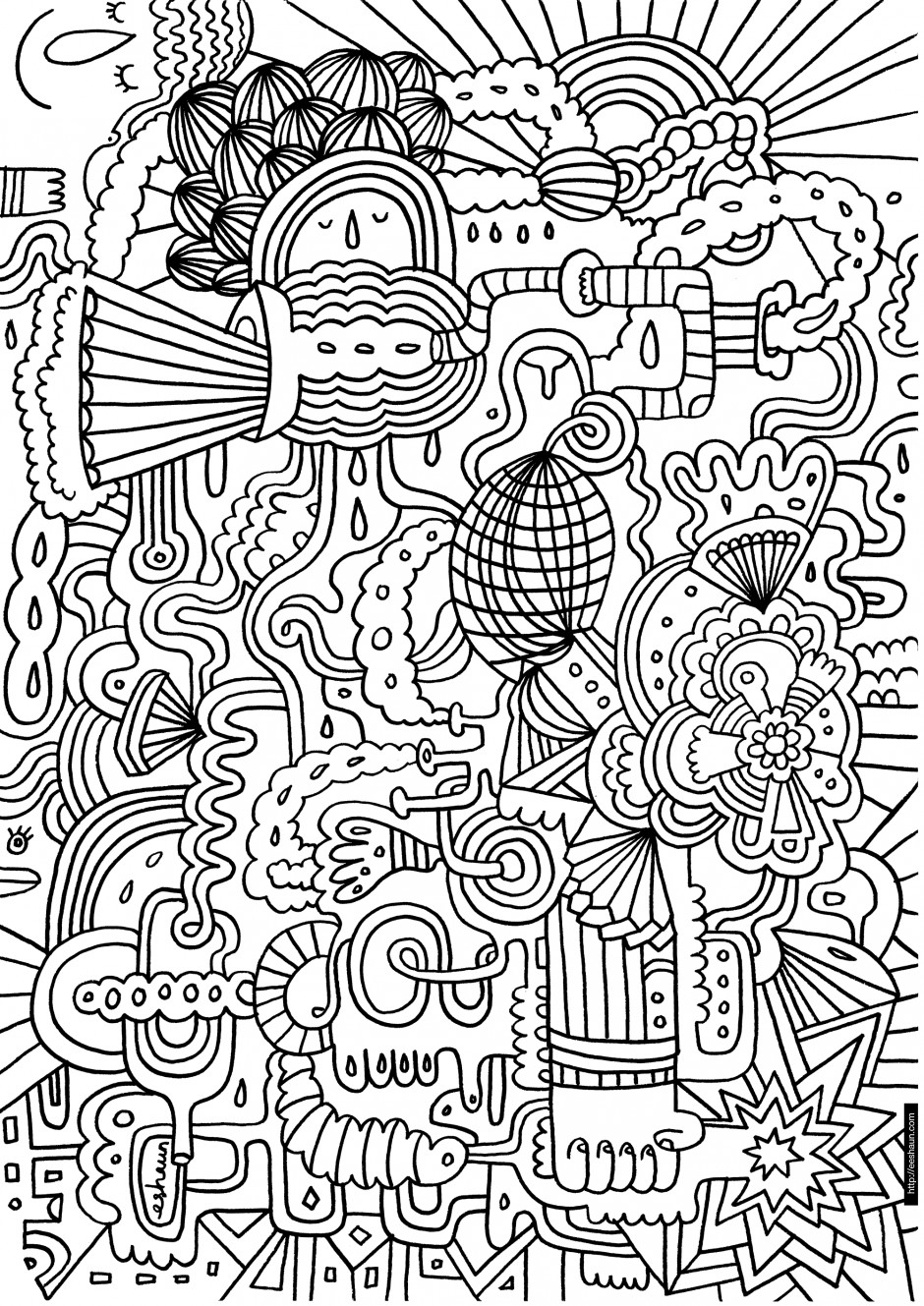 Coloring Pages For Teens No Boys  Coloring Pages for Teen Girls Dr Odd