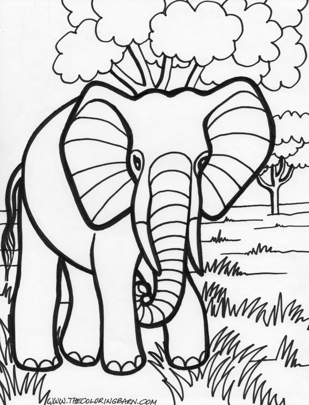 Coloring Pages For Toddler  transmissionpress 14 Elephant Coloring Pages for Kids
