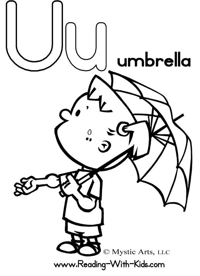Coloring Pages Of Underware For Toddlers  Letter U Coloring Sheet