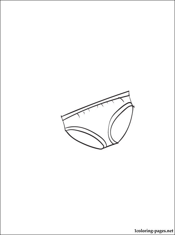 Coloring Pages Of Underware For Toddlers  Underwear coloring page for printing