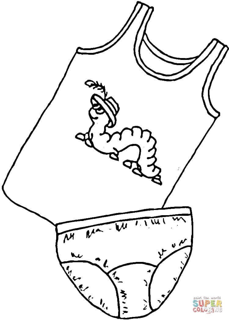 Coloring Pages Of Underware For Toddlers  Underwear for Kids coloring page