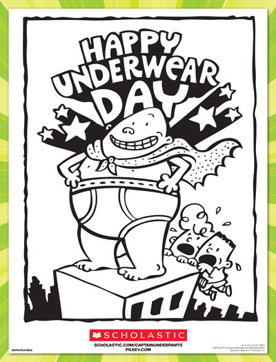 Coloring Pages Of Underware For Toddlers  Happy Underwear Day Coloring Sheet