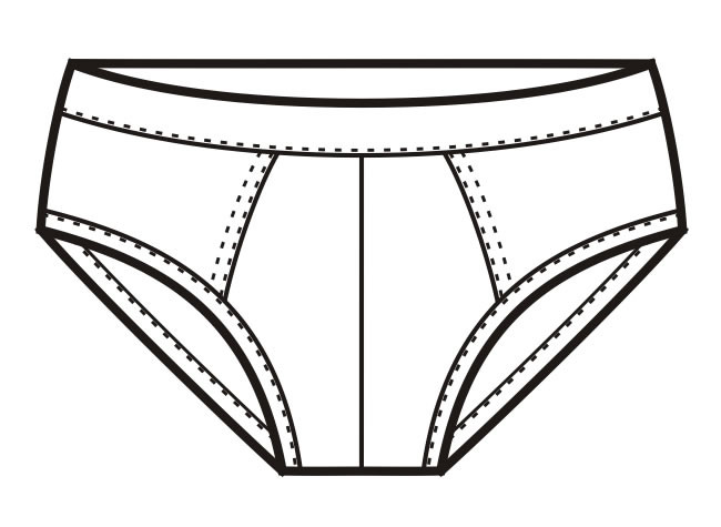 Coloring Pages Of Underware For Toddlers  Underwear clipart black and white 8 Clipart Station