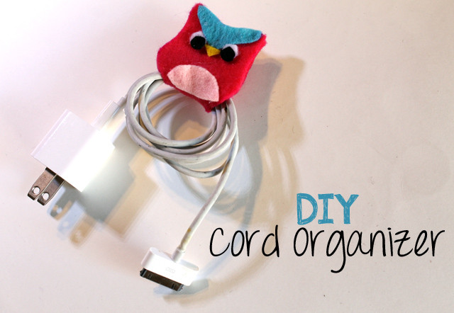 Cord Organizer DIY  10 DIY Projects To Keep Your Cords Organized