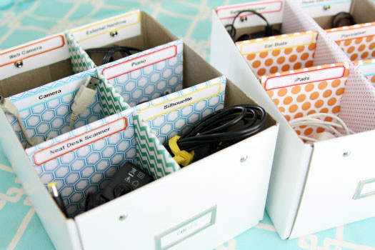 Cord Organizer DIY  IHeart Organizing Quick Tip Cute Cord Labels