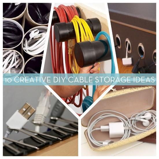 Cord Organizer DIY  DIY Cable Organizers 10 Unique Ideas We Love