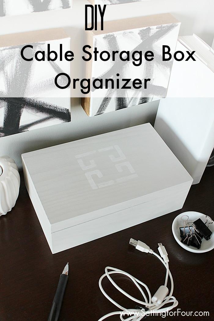 Cord Organizer DIY  DIY Cable Storage Box Organizer Setting for Four