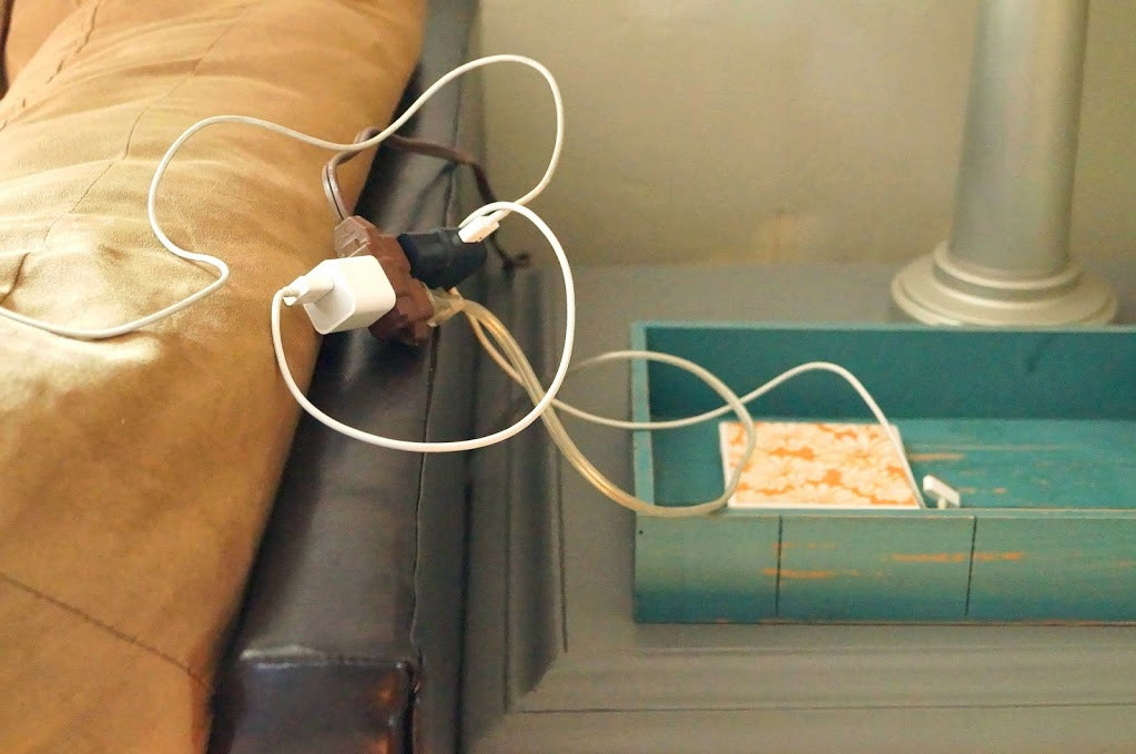 Cord Organizer DIY  DIY Charging Station & Cord Organizer Old House to New Home