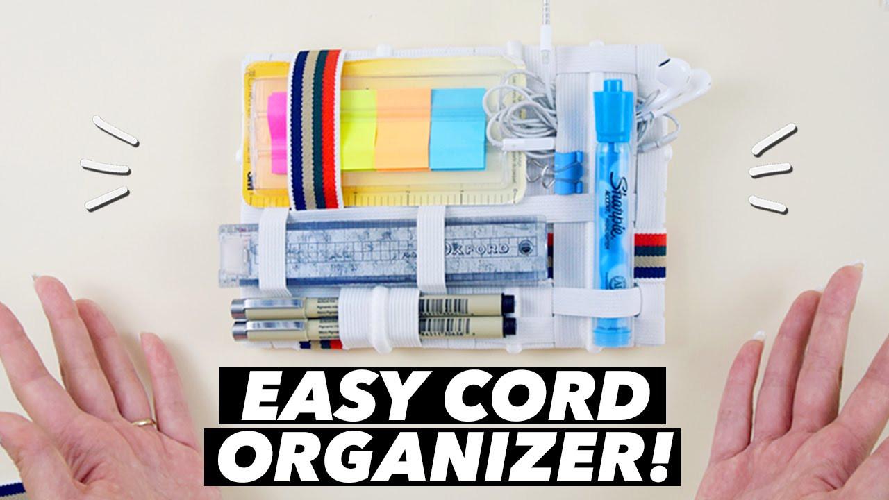 Cord Organizer DIY  EASY DIY Cord Organizer How to Make a Grid It Organizer