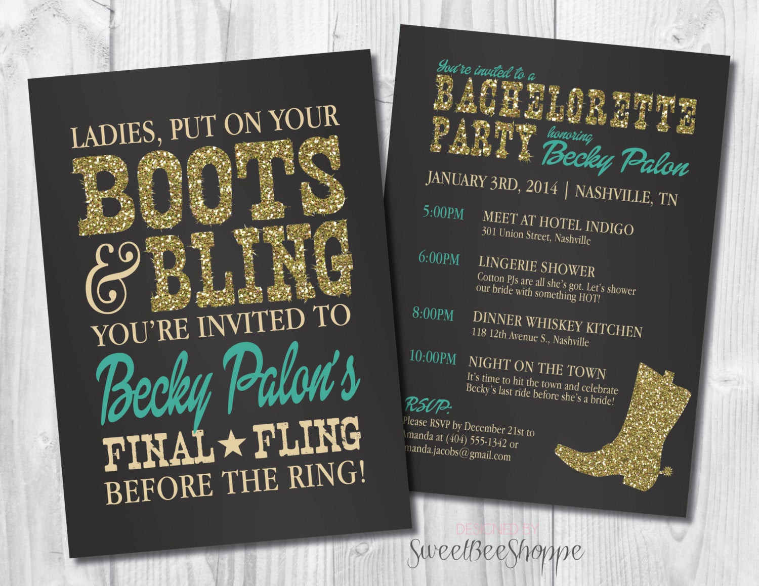 Country Bachelorette Party Ideas  Country Western Bachelorette Party Invitation by