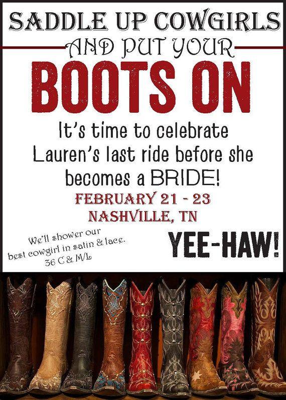 Country Bachelorette Party Ideas  Nashville Country Themed Bachelorette Party by