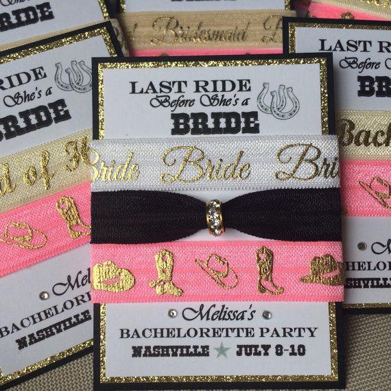 Country Bachelorette Party Ideas  LAST RIDE Bachelorette Party Bridesmaids favor sets