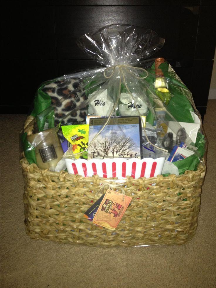 Couples Gift Basket Ideas  Date night basket I made for a bridal shower t Inside