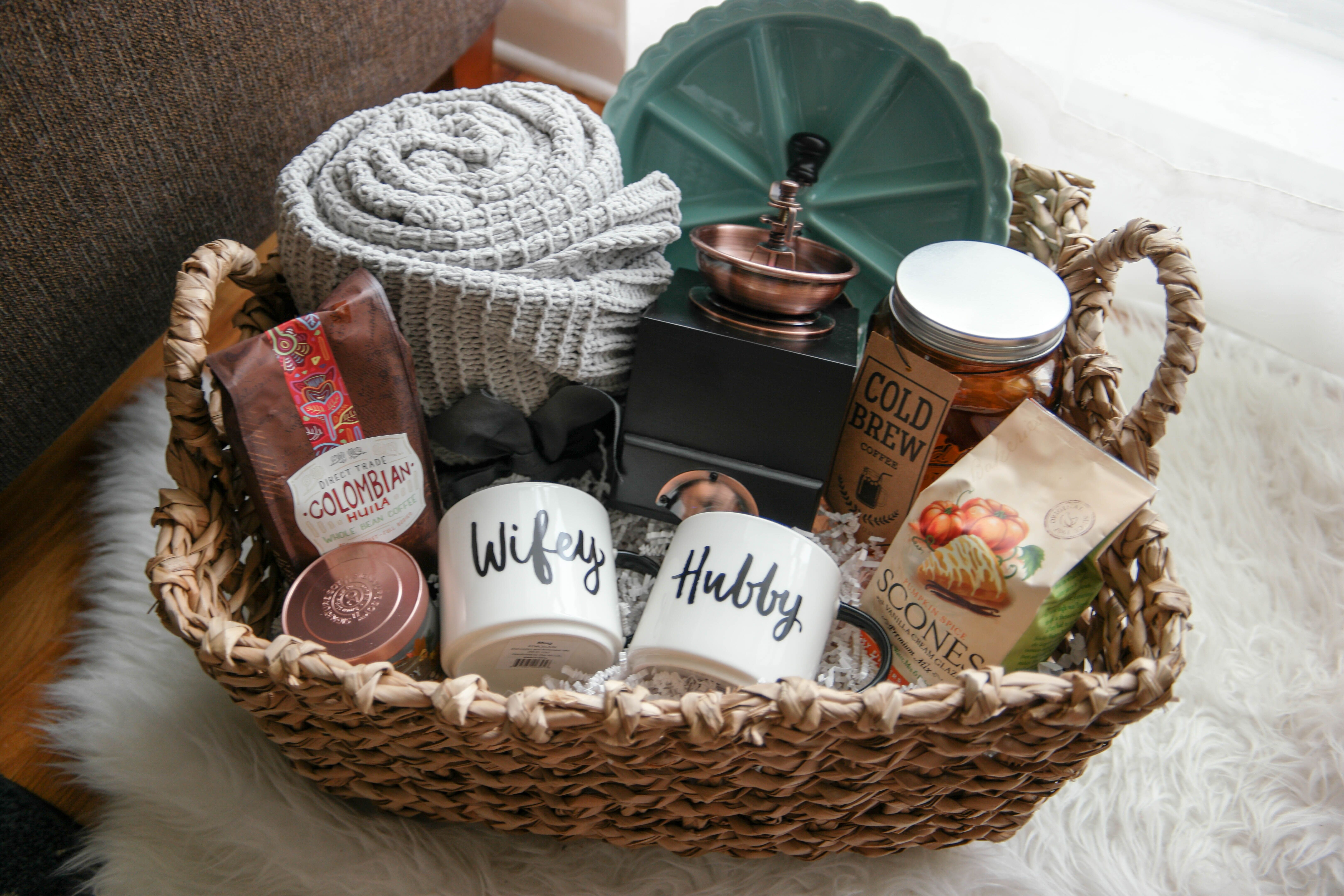Couples Gift Basket Ideas  A Cozy Morning Gift Basket A Perfect Gift For Newlyweds