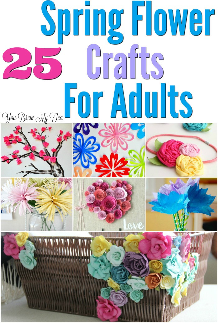 Craft For Adults  25 Flower Craft Ideas For Adults