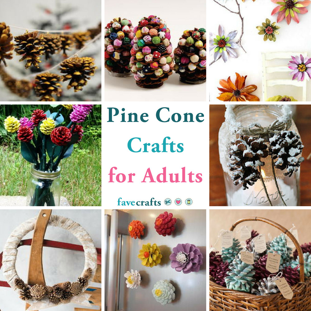 Craft For Adults  38 Pine Cone Crafts for Adults