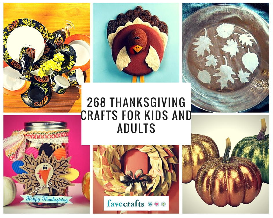 Craft For Adults  268 Thanksgiving Crafts for Kids and Adults