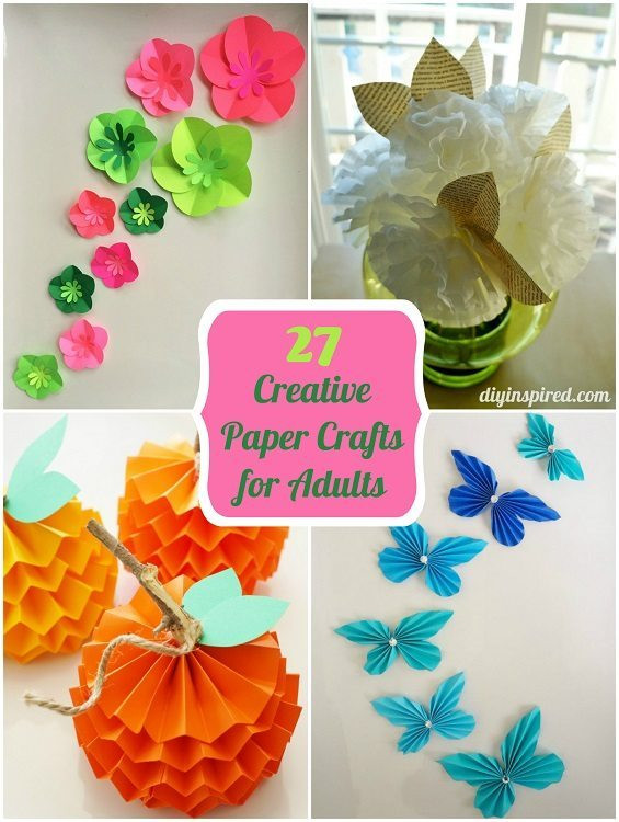 Craft For Adults  27 Creative Paper Crafts for Adults DIY Inspired
