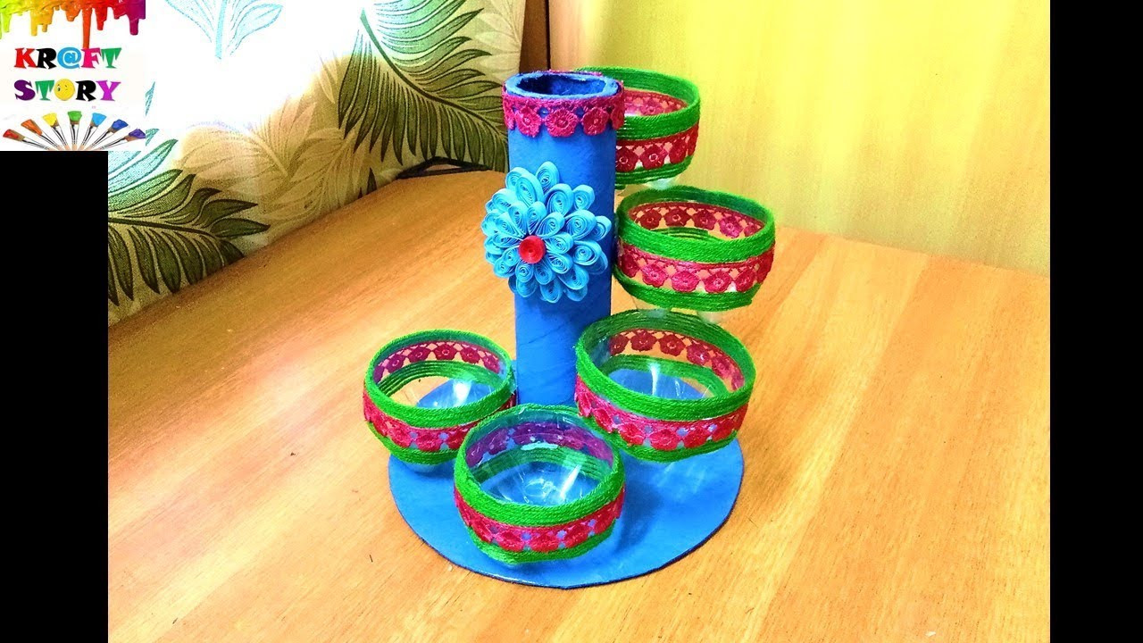 Craft Ideas For Kids With Waste Material  Plastic bottle craft idea Best out of waste craft idea