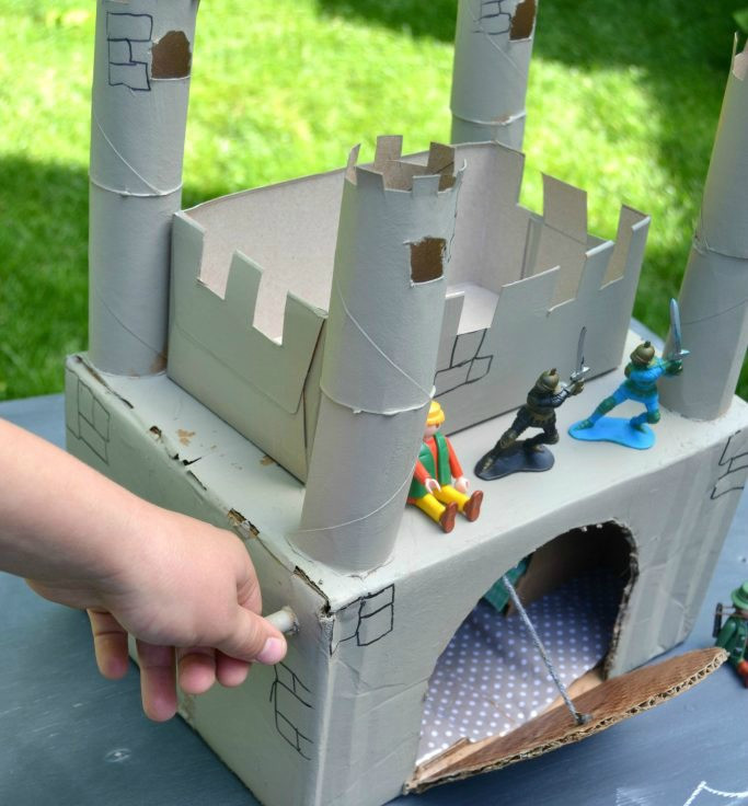 Craft Ideas For Kids With Waste Material  Waste Material Craft Ideas For Kids Make A Homemade Castle