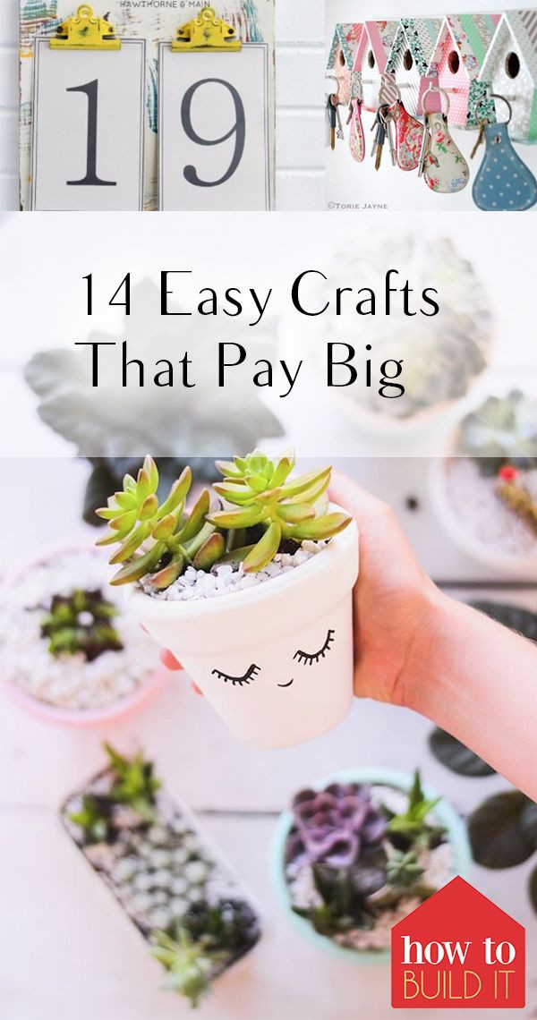 Crafts For Kids To Sell  14 Easy Crafts That Pay Big Crafts Pinterest