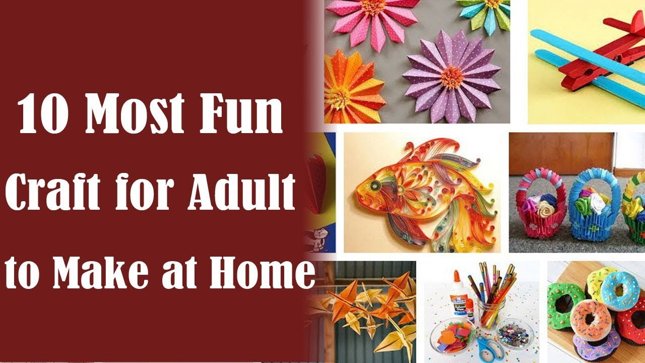Crafts To Do At Home For Adults  Crafts for Adults 10 Best Craft Ideas for Adults to Make