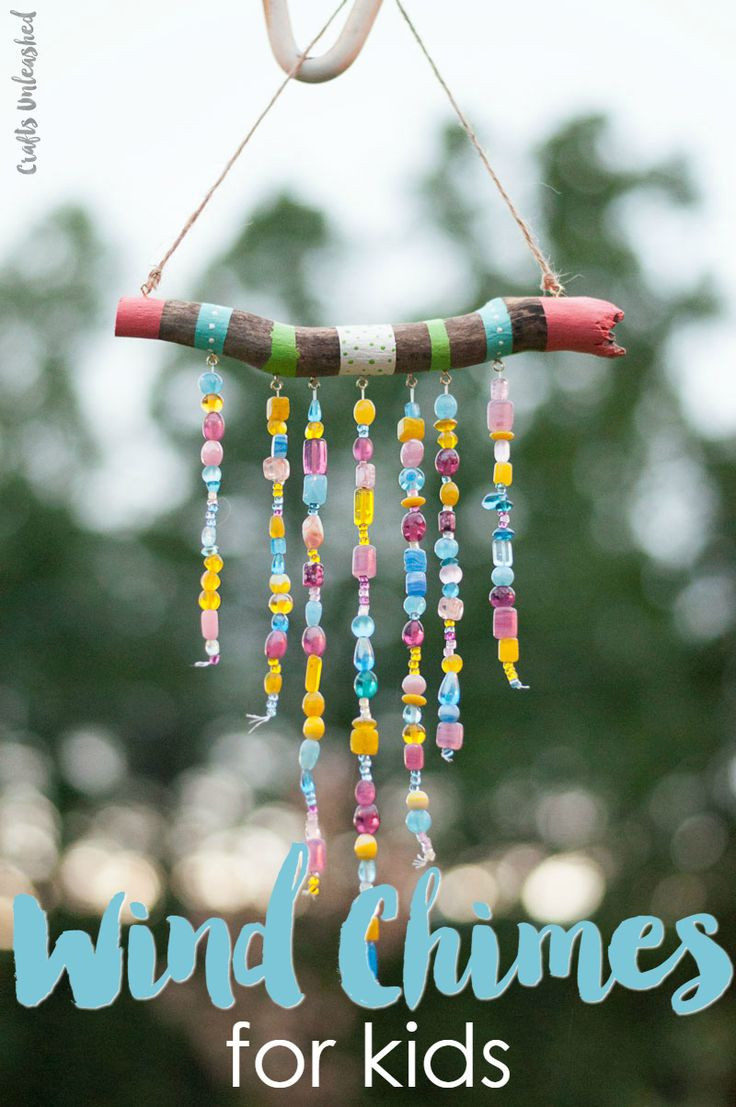 Crafts With Kids  DIY Wind Chimes For Kids Step by Step Consumer Crafts