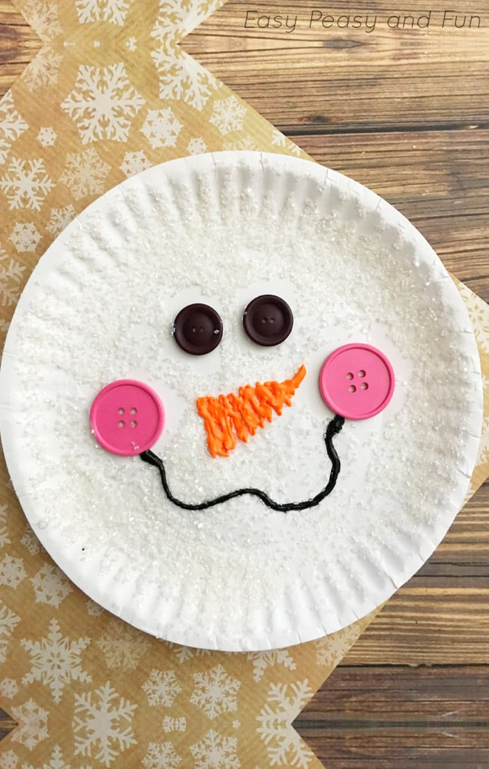 Crafts With Kids  Paper Plate Snowman Craft Winter Crafts for Kids Easy