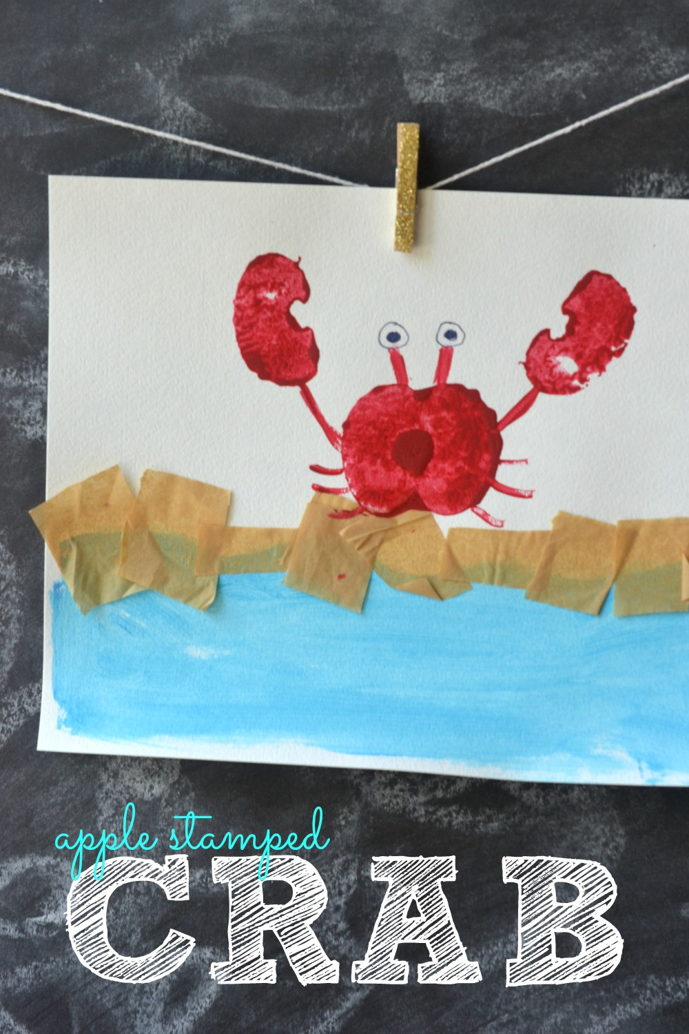 Crafts With Kids  Apple Stamped Crab Kids Craft