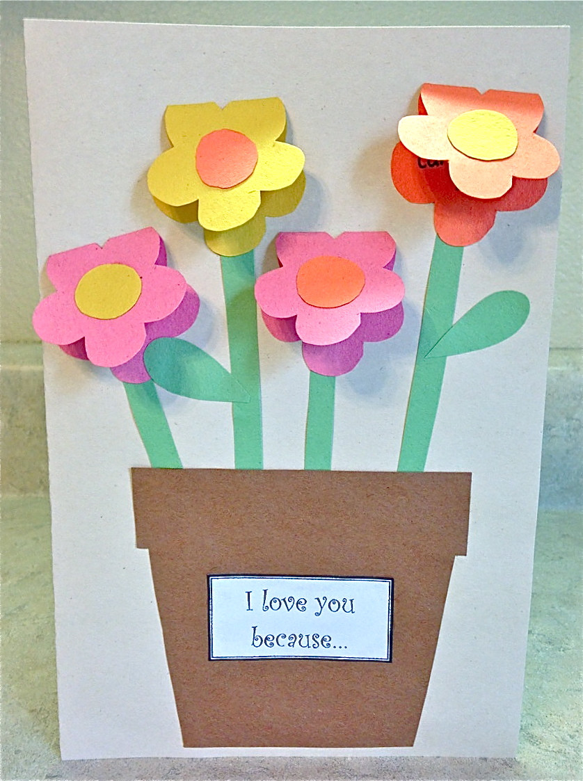 Crafts With Kids  Mother s Day Construction Paper Vase