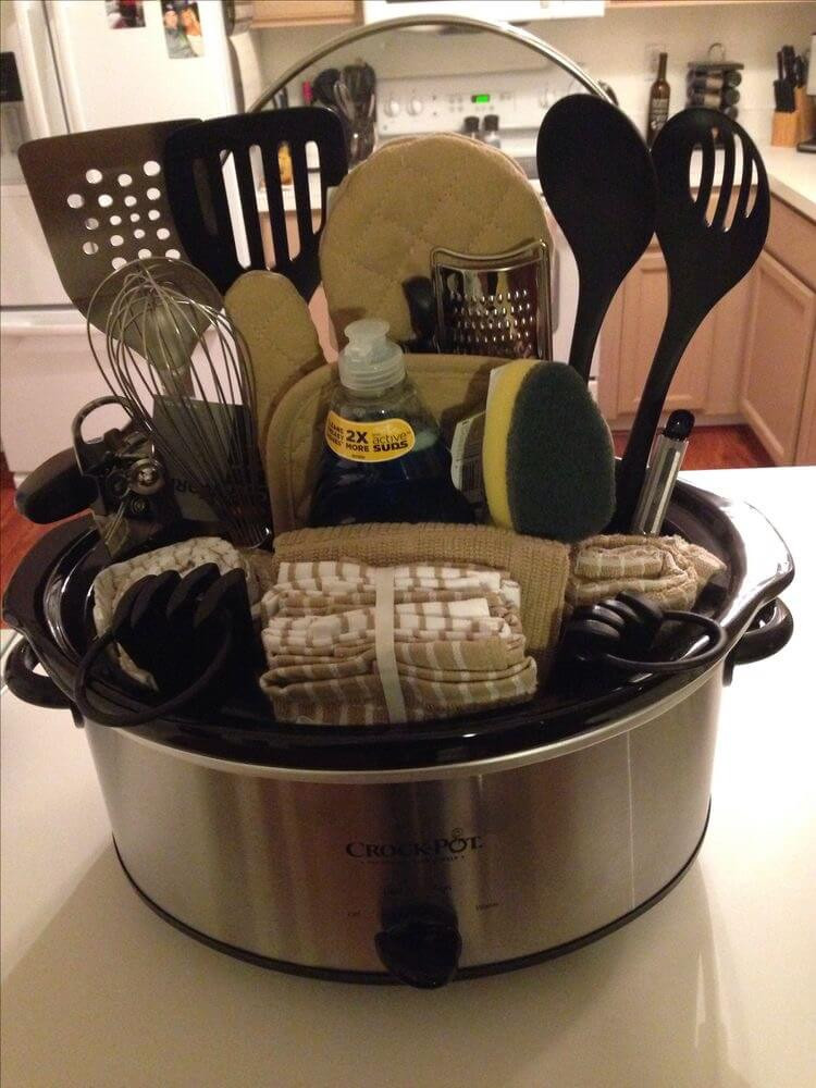 Crock Pot Gift Basket Ideas  20 Unique DIY Gift Baskets That Are Super Easy To Make