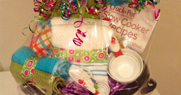 Crock Pot Gift Basket Ideas  Gift idea for bridal shower or wedding Might be able to