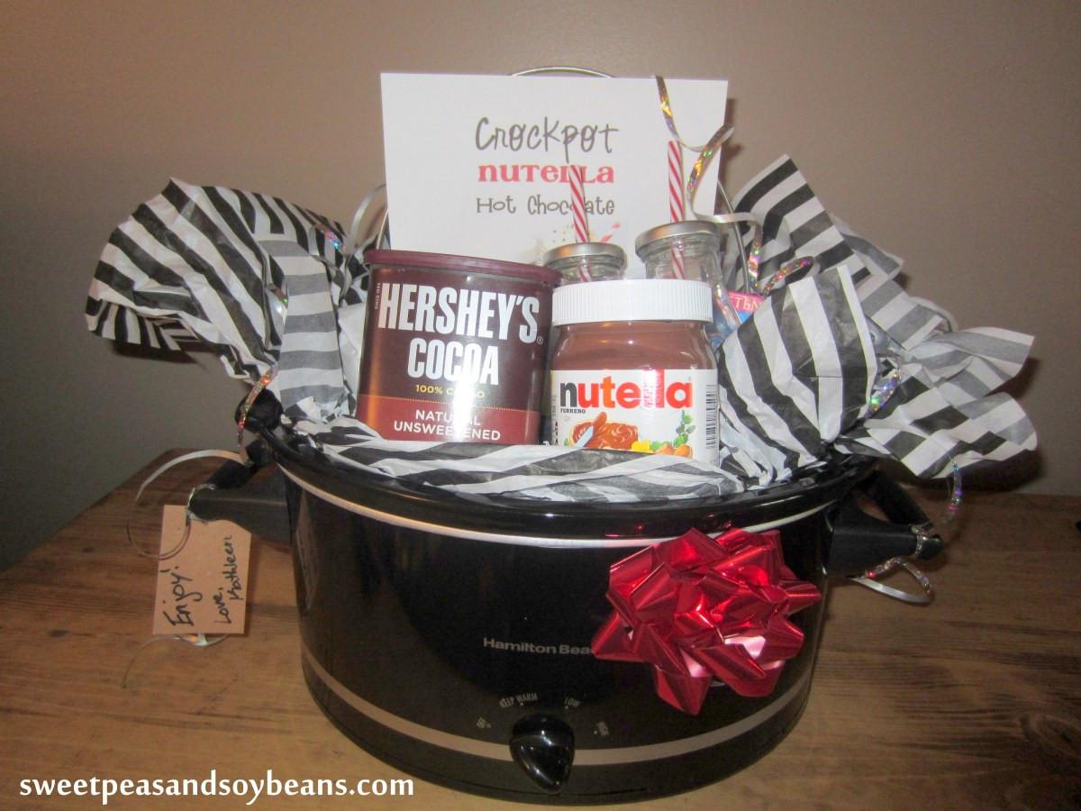 Crock Pot Gift Basket Ideas  Crockpot nutella Hot Chocolate