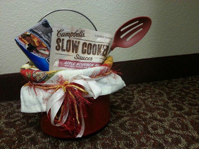 Crock Pot Gift Basket Ideas  Crockpot t basket Yup I made that