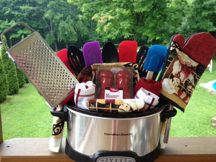 Crock Pot Gift Basket Ideas  Basket party Crock pot t basket Crock pot t Crock