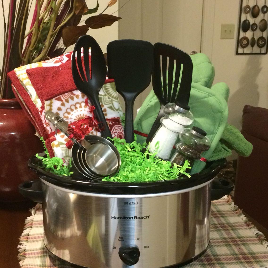 Crock Pot Gift Basket Ideas  My crockpot wedding shower basket
