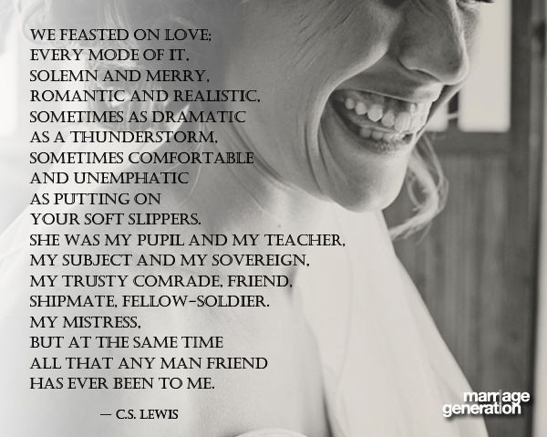 Cs Lewis Quotes On Marriage  C S Lewis reflecting on his relationship with his wife