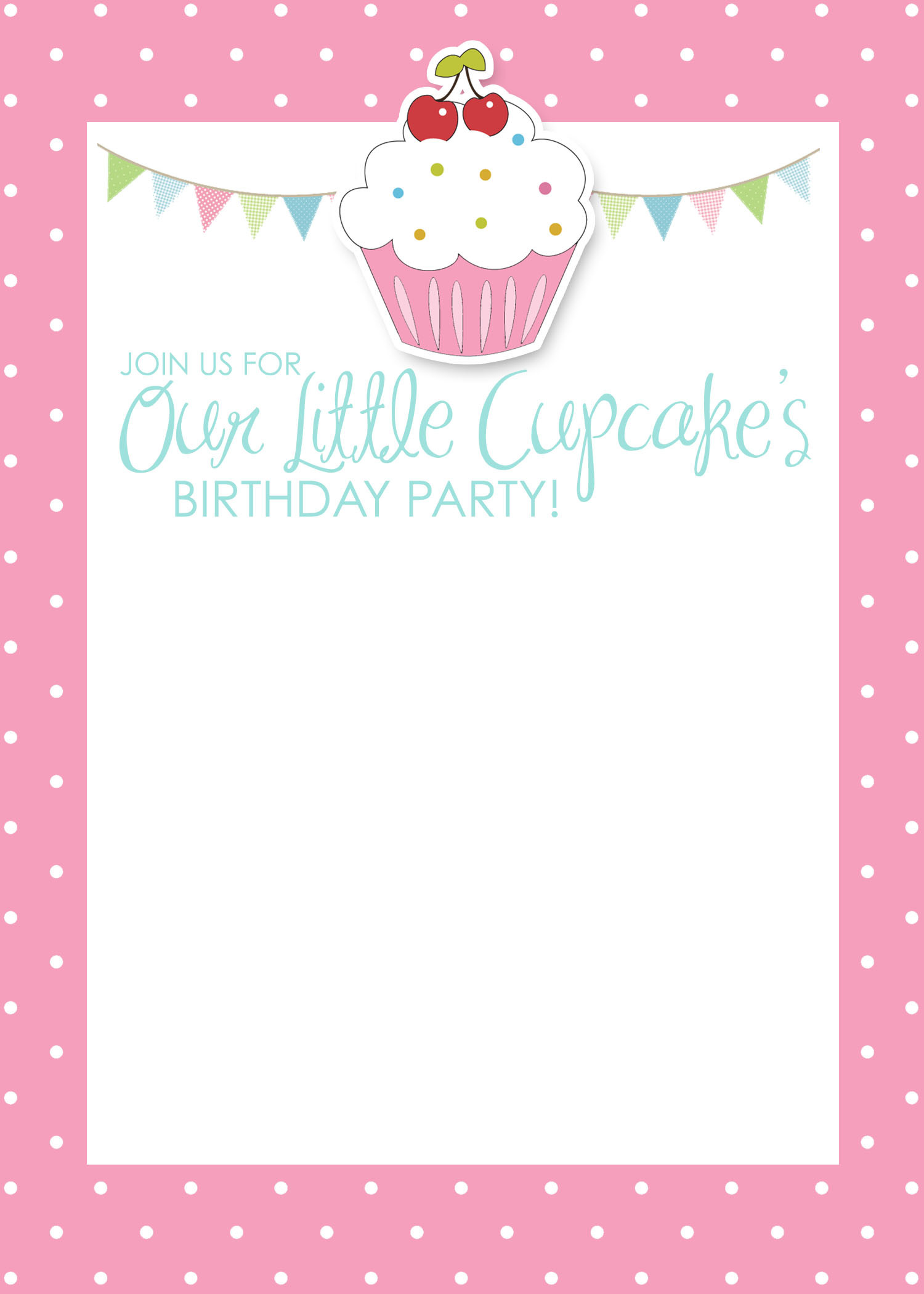 Cupcake Birthday Invitations  Cupcake Birthday Party with FREE Printables How to Nest