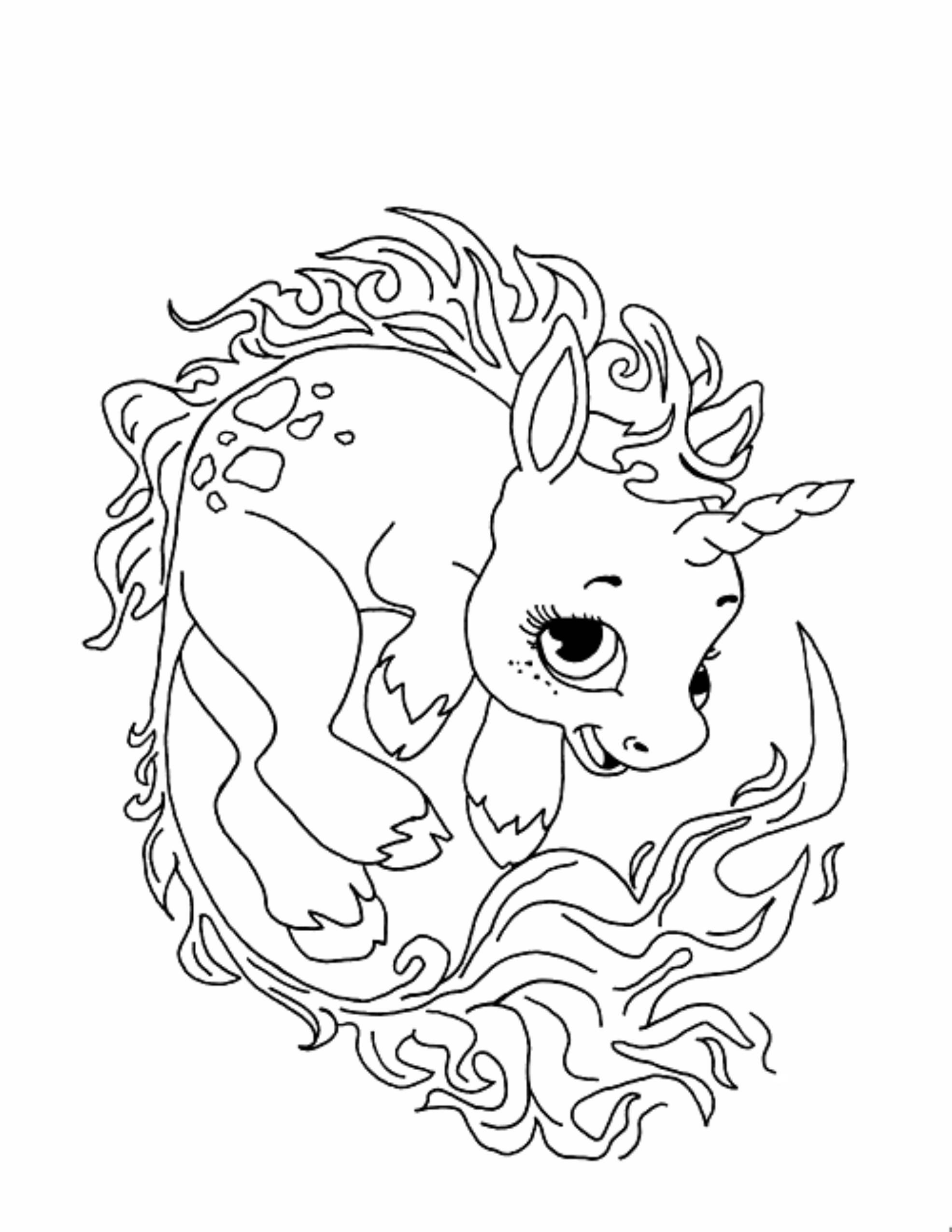 Cute Animal Coloring Pages For Adults  cute unicorn coloring pages