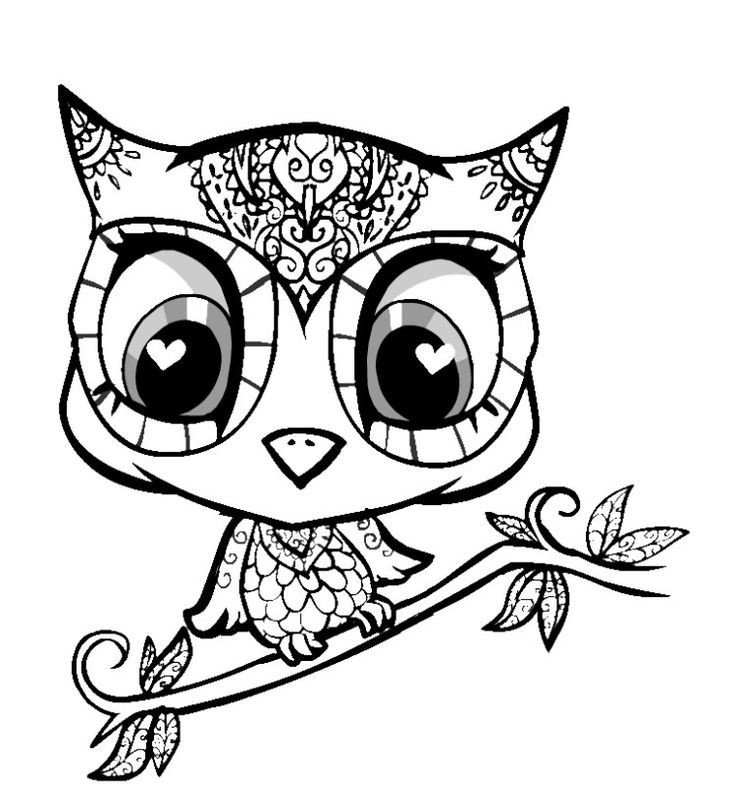 Cute Animal Coloring Pages For Adults  Best 25 Cute coloring pages ideas on Pinterest