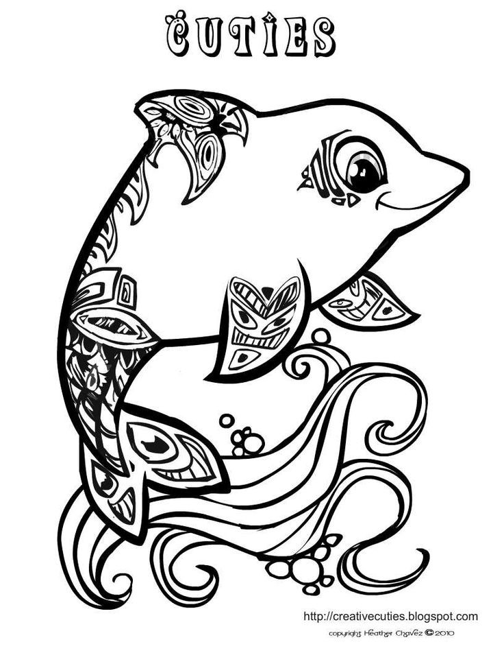 Cute Animal Coloring Pages For Adults  113 best Coloring Pages images on Pinterest