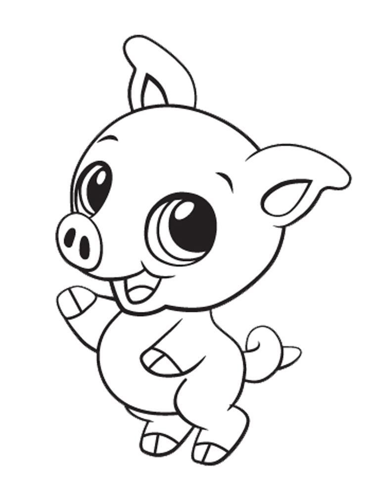 Cute Animal Coloring Pages For Adults  Printable Cute Baby Animal Coloring Pages Coloring Home