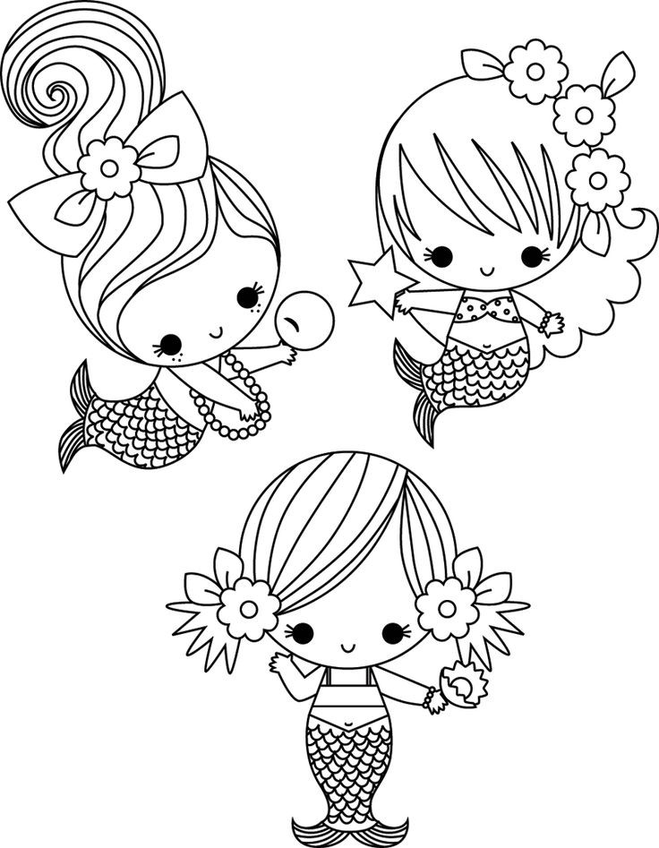 Cute Coloring Pages For Adults  25 Best Ideas about Mermaid Coloring on Pinterest