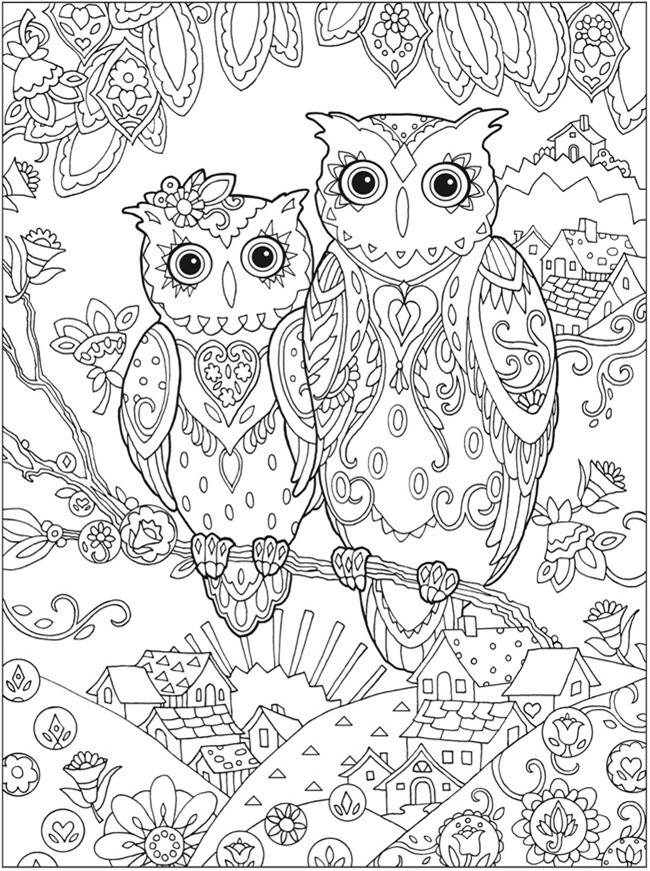 Cute Coloring Pages For Adults  Printable Coloring Pages for Adults 15 Free Designs
