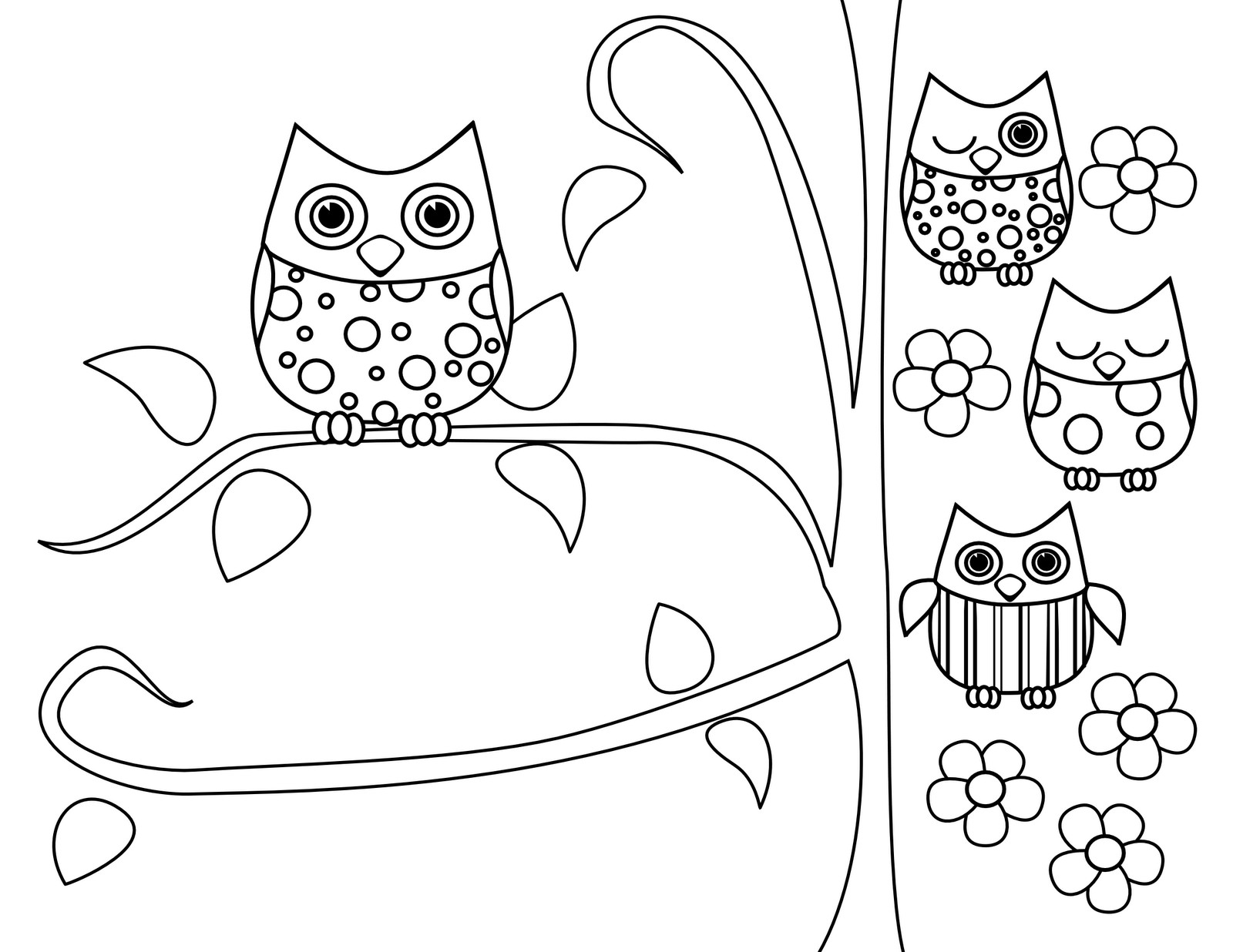 Cute Coloring Pages For Adults  Cute Owl Coloring Pages Coloring Home