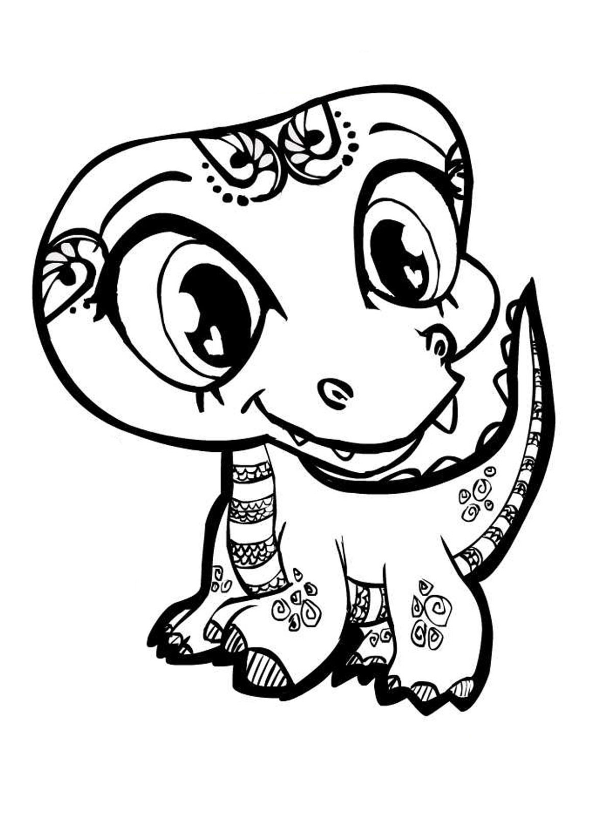 Cute Coloring Pages For Adults  Animal Coloring Pages for Adults Bestofcoloring