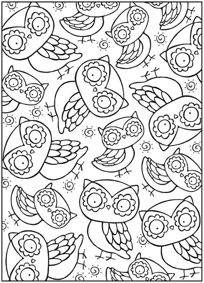 Cute Coloring Pages For Adults  462 best images about Coloring pages on Pinterest