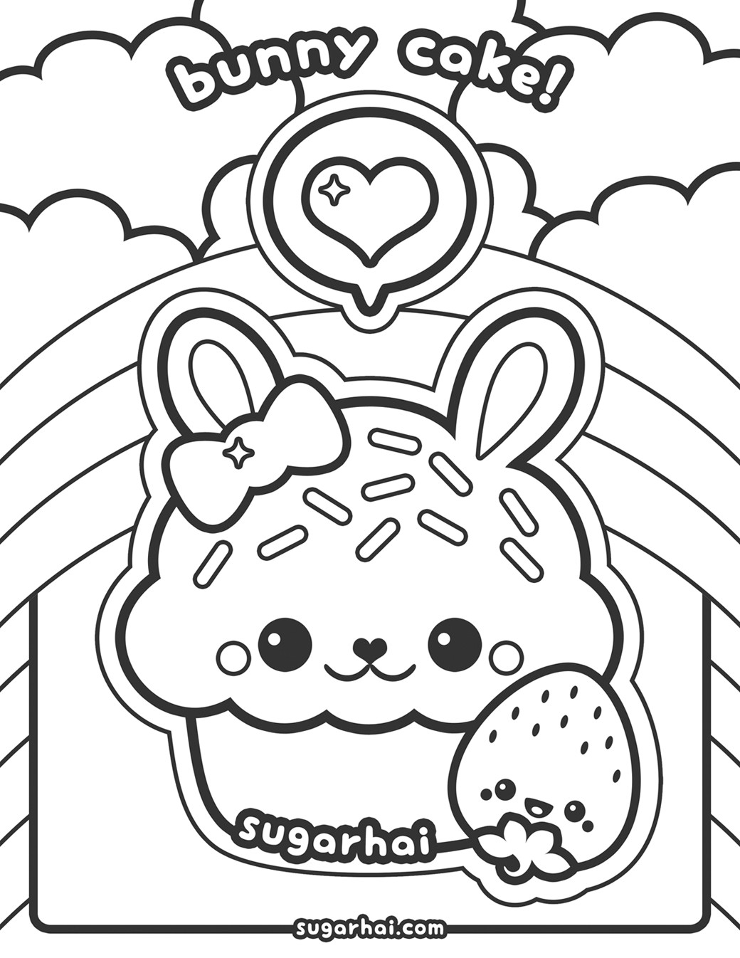 Cute Coloring Pages For Adults  Coloring Pages Cute Kawaii Animals AZ Coloring Pages