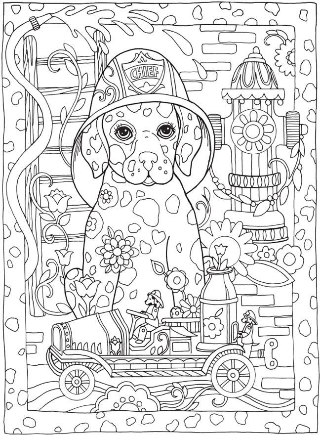 Cute Coloring Pages For Adults  Coloring Pages Be Dazzled with these cute Dog and five
